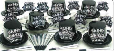 New Year's Party Kit - Silver (50 People)