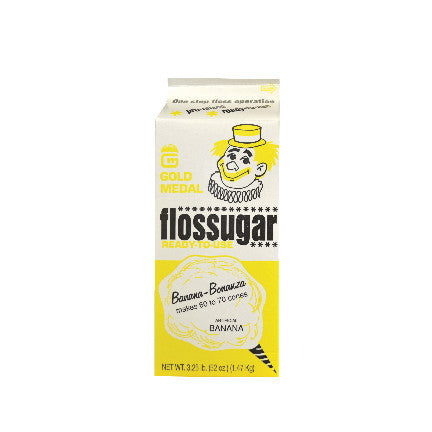 Banana Bonanza Flossugar, 3.5 lb, Cotton Candy Supplies, Cromers Pnuts, LLC - Cromers Pnuts, LLC