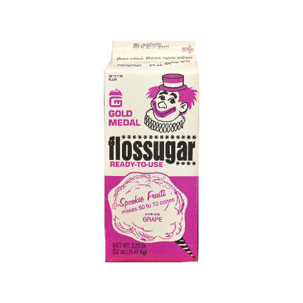 Spooki Fruitti Grape Flossugar , 3.5 lb, Cotton Candy Supplies, Cromers Pnuts, LLC - Cromers Pnuts, LLC