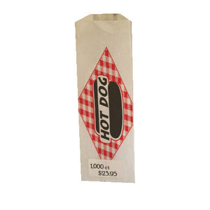 Hot Dog Paper Bags, 1000 count