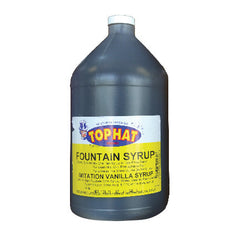 TOP HAT Vanilla Snow Cone Syrup - gal. - $11.95, Snow Cone Supplies, Cromers Pnuts, LLC - Cromers Pnuts, LLC