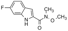 6-fluoro-N-methoxy-N-methyl-1H-indole-2-carboxamide