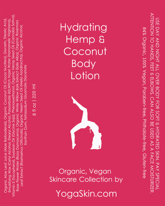 Hydrating Hemp and Coconut Body Lotion