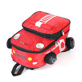 3D  cartoon Fire engine  kid backpack