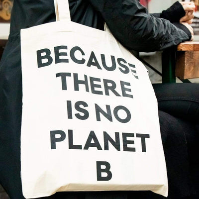 Biobaumwolle beutel von HALM Because there is no planet B tasche tote bag