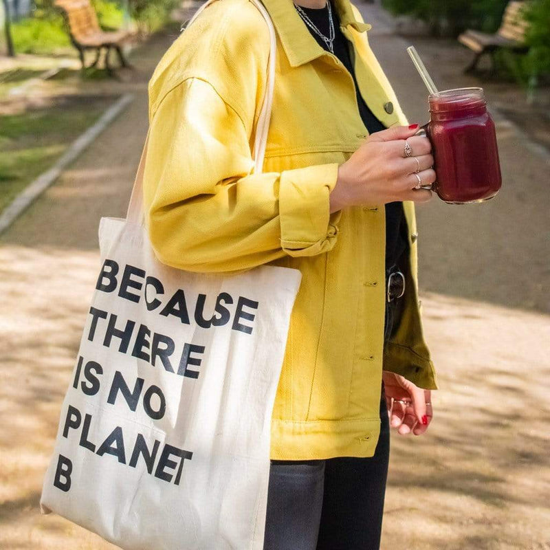 "Jute Beutel - ""Because there is no Planet B"" Einkaufsbeutel Tote Bag"