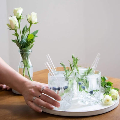 HALM Hochzeit Wedding Edition Roses gin tonic cocktail tumbler glaeser glasstrohhalme