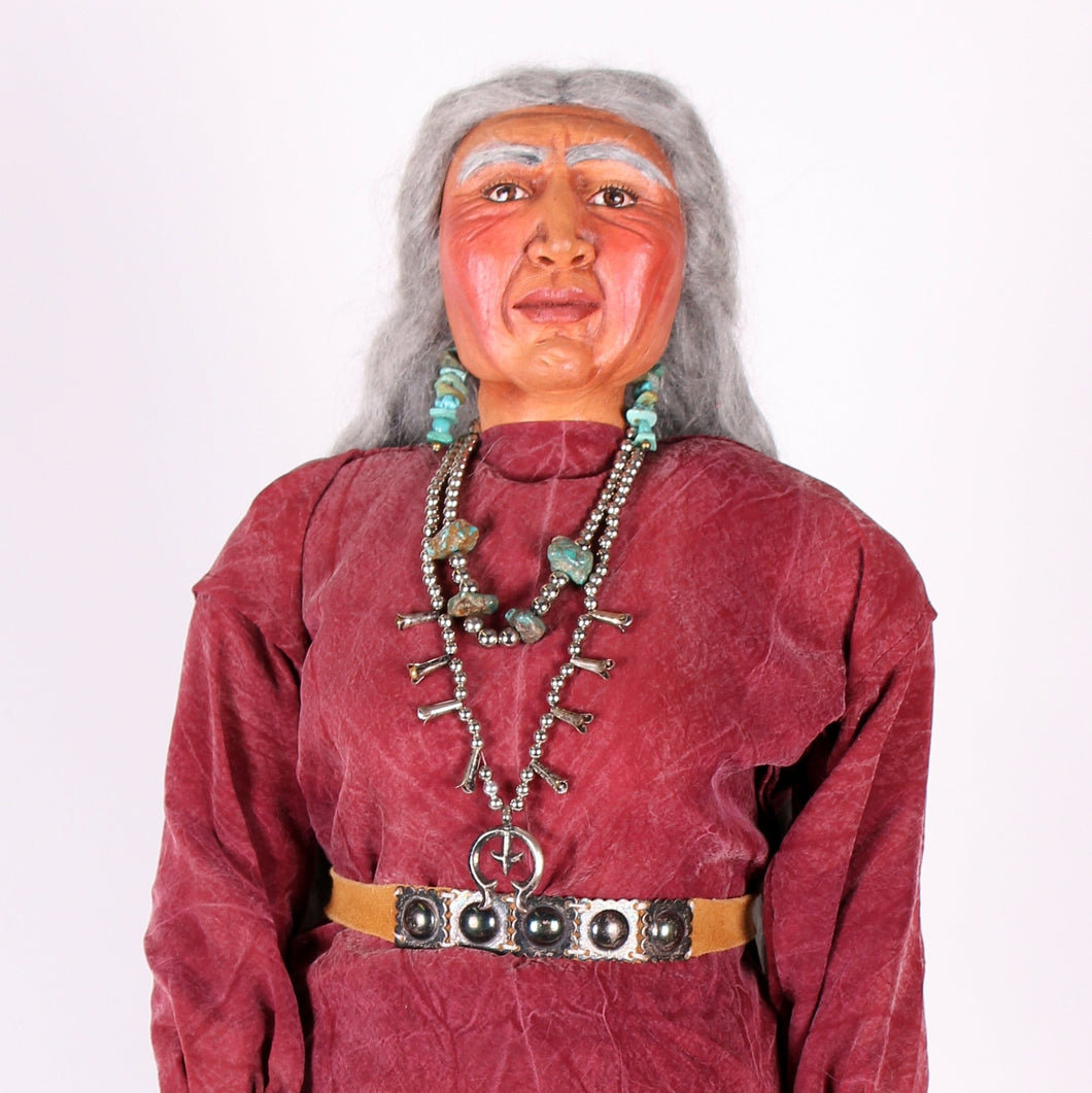 Native American Indian Doll by Mohawk Artist, Cathy Crandall ACC102