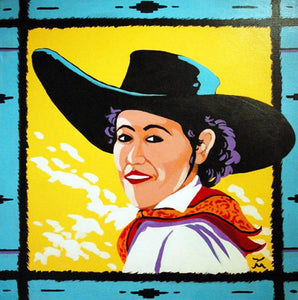 Cowgirl Original Art Painting by Dan Howard