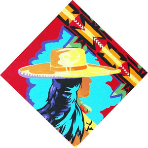 Cowgirl Painting Native American Indian Theme Original Painting