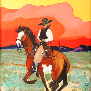 Original Cowboy Painting by Dan Howard