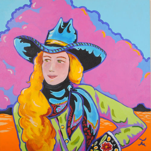 Pop-Art Cowgirl Painting Original Painting by Dan Howard