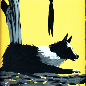 Cow Dog Original Western Painting by Dan Howard