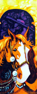"Horse Gear Original Art Painting ""Traditions"" by Dan Howard"