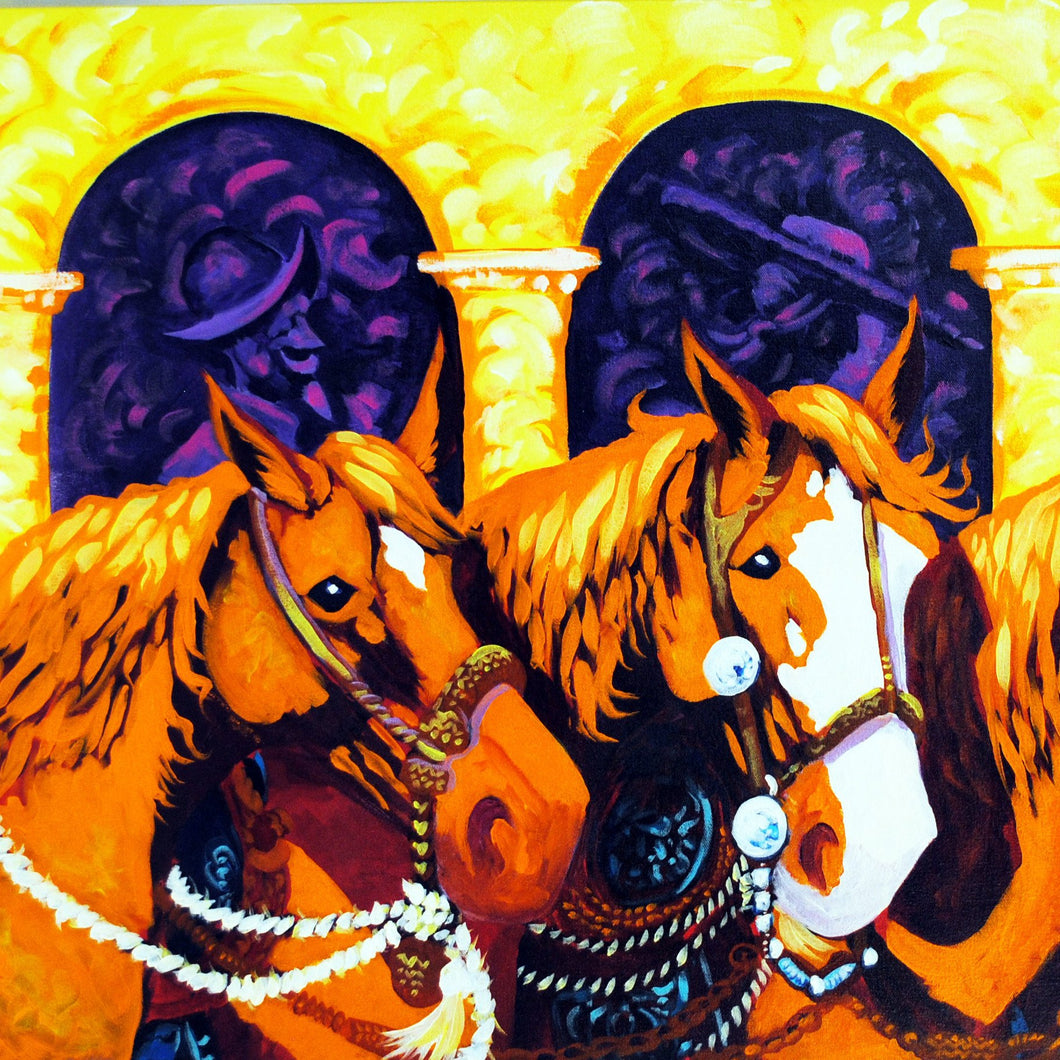 Horse Gear Original Art Painting