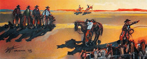 "Cowboy Painting ""Nevada Remuda"" by Larry Bute"