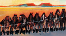 "Load image into Gallery viewer, Cowboy Painting ""Nevada Remuda"" by Larry Bute"