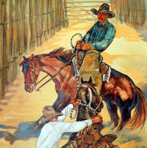 Original Larry Bute Western Art Painting