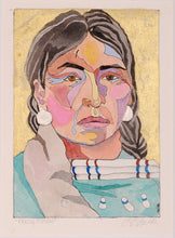 Load image into Gallery viewer, Native American Portrait Watercolor Original by Linda Lucy Lunde