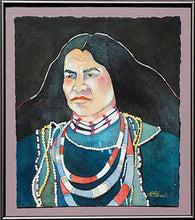 Load image into Gallery viewer, Native American Original Watercolor by Linda Lucy Lunde