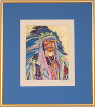Load image into Gallery viewer, Indian Chief Original Art Painting by Linda Lucy Lunde