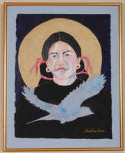 Load image into Gallery viewer, American Indian Portrait Original Art by Linda Lucy Lunde
