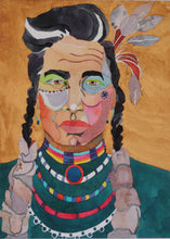Load image into Gallery viewer, Original Native American Watercolor by Linda Lucy Lunde