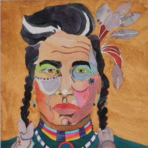 Original Native American Watercolor by Linda Lucy Lunde
