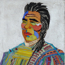 Load image into Gallery viewer, Native American Original Portrait Watercolor by Linda Lucy Lunde