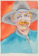 Load image into Gallery viewer, Cowboy Watercolor Original Painting by Linda Lucy Lunde
