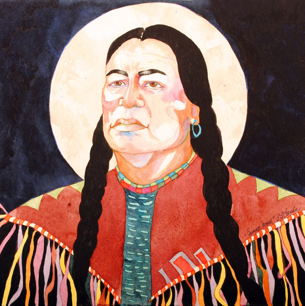 Native American Original Watercolor by Linda Lucy Lunde