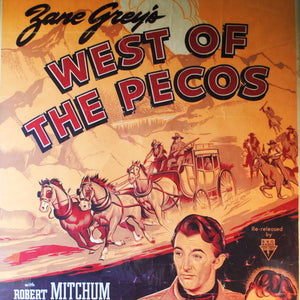 "Vintage Movie Poster ""West of the Pecos"""
