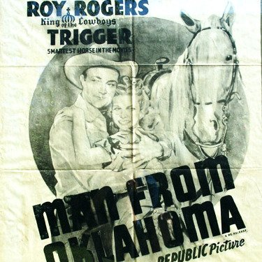 Vintage Movie Poster Art Roy Rogers & Dale Evans