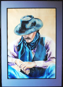Buckaroo Watercolor by Nevada Artist Sam Brown