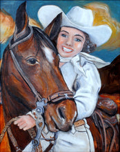 Load image into Gallery viewer, Original Cowgirl Painting by Cowgirl Artist Shawna June Lee