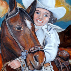 Original Cowgirl Painting by Cowgirl Artist Shawna June Lee
