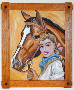 Retro Cowgirl Painting by Cowgirl Artist Shawna June Lee
