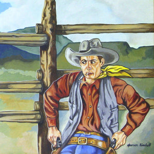 Western Pop Art Cowboy Painting by Santa Fe Artist Spencer Kimball ASK101