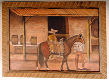 Load image into Gallery viewer, Mexican Folk Art Vintage Painting Horse in Village