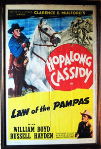 "Hopalong Cassidy Vintage Movie Poster ""Law of the Pampas"""