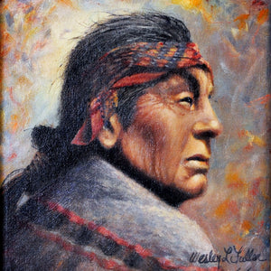 Native American Art Painting Portrait AWF100