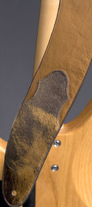 Handcrafted Ergonomic Brown Leather Guitar Strap GS116