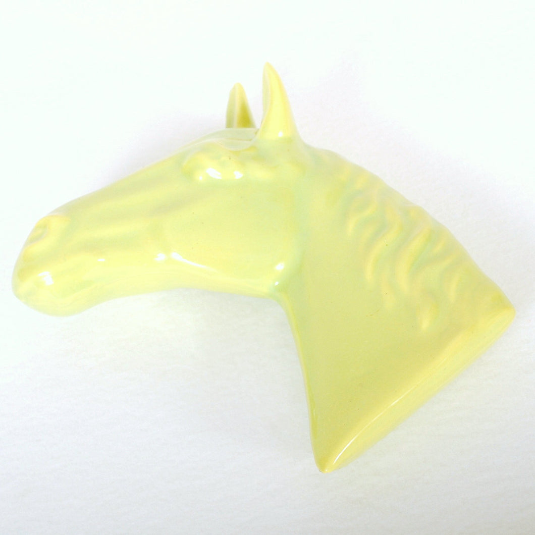Chartreuse Planter Wall Pocket Horse Head HD111
