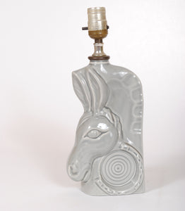 Vintage Ceramic Lamp Donkey Jim Beam Decanter HD121