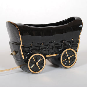 Ceramic Covered Wagon TV Lamp HD128