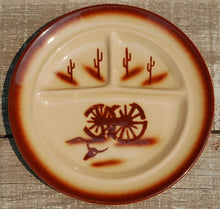 Load image into Gallery viewer, Tepco Broken Wagon Wheel China Divided Plates 10 pc set