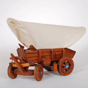 Muslin Covered Wagon Vintage Lamp HD137