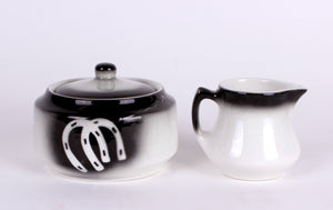 Vintage Jackson China Restaurant Ware Sugar Bowl & Creamer