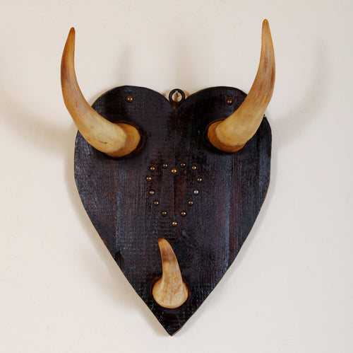 Victorian Antler Wall Plaque in Heart Shape