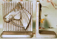 Load image into Gallery viewer, Silver Horse Vintage Bookends HD192